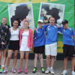 Zaterdag gemengd t/m 14 jaar: Fenne, Nikki, Guusje, Kenneth, Quinten en Mitchel