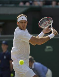 01-07-13, England, London, AELTC, Wimbledon, Tennis, Wimbledon 2013, Day seven, Juan Martin Del Potro (ARG) Photo: Henk Koster